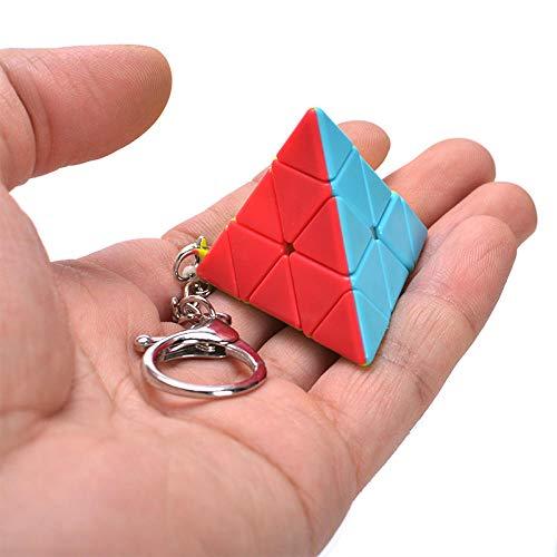 Ykun Pequeño Llavero de Tercer Orden, Llavero de Tercer Orden de Cubo de Rubik-Color de la pirámide