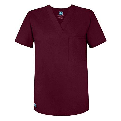Adar Universal Blouse Médicale Unisexe - Tunique Col en V - 6011 - Burgundy - L