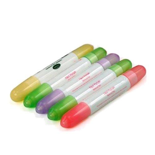 SODIAL(Wz.) 5 X Aceton Polierung Schminke Korrector Entferner Stift Nagellack Korrekturstift + 15...