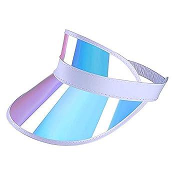 Surkat Unisex Sun Visors Plastics Multicolored UV Protection Hat Cap Headwear for Golf Tennis Cycle Pink
