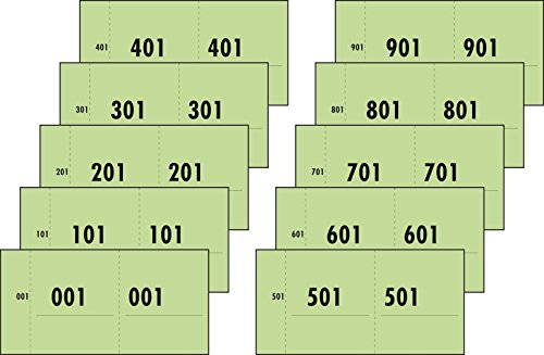 Sigel Express 76153 - Resguardos numerados (del 1 al 1000, 53 x 105 mm), color verde