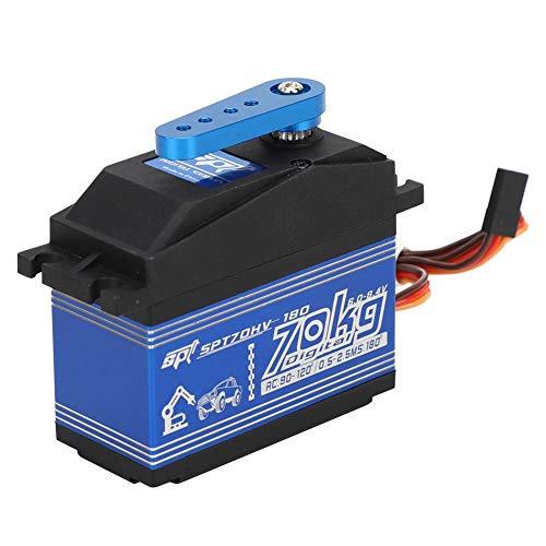 Vbest life Servo RC, Engranaje de dirección de Metal a Prueba de Agua de Alto Torque para 1/5 SPTZOHV180W 70KG Control Remoto RC Car Toy Accessories