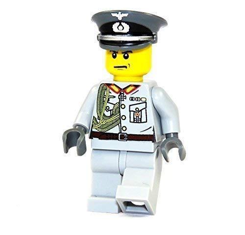 Custom General Wehrmacht WW2 Figur mit UV Druck aus LEGO® Teilen grau