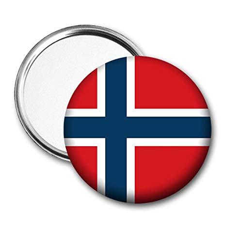 Noorwegen Vlag Pocket Spiegel voor Handtas - Handtas - Cadeau - Verjaardag - Kerstmis - Stocking Filler - Secret Santa