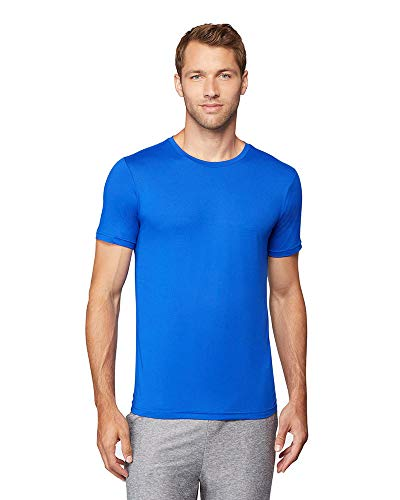 32 DEGREES Mens Cool Quick Dry Active Basic Crew T-Shirt, Blue, Large