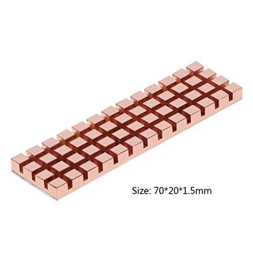 peng zuiver koper koeler koeler warmte wastafel thermische geleidende lijm voor M.2 NGFF 2280 PCI-E NVME SSD 70x20MM dikte 1.5/2/3/4MM
