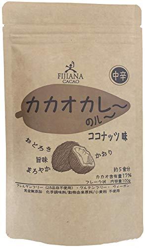 カカオカレー(粉) ココナッツ味 100g 米粉 グルテンフリー パーム油不使用 カレー粉 健康食品 フィジー チョコレート フィジーで人気のチョコレート屋さんがつくるカレー