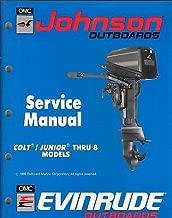 1990 JOHNSON EVINRUDE OUTBOARD COLT/JUNIOR- 8 HP SERVICE MANUAL P/N 507870 (192)