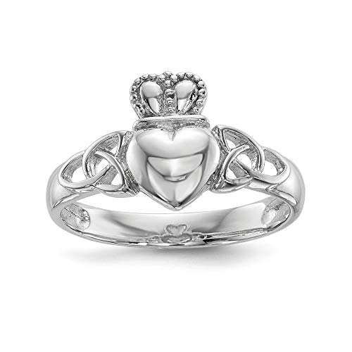 925 Sterling Silver Irish Claddagh Celtic Knot Band Ring Size 8.00 Fine Jewelry For Women Gifts For Her