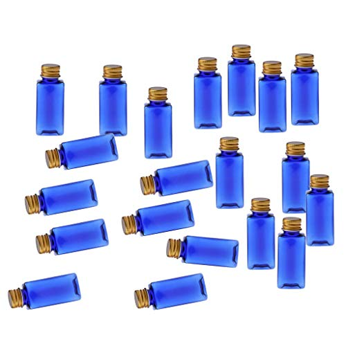 Tubayia 20 botellas vacías de 30 ml para cosméticos, botellas de maquillaje, botellas de viaje para aceites esenciales, perfume, loción (oro azul)