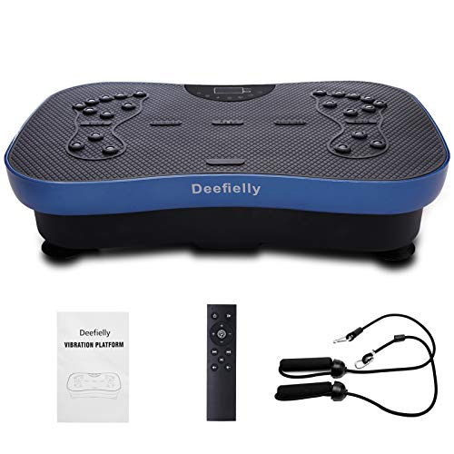 Deefielly Mini Vibration Plate for Adult Whole Body Workout Vibration Fitness Platform Home Training...