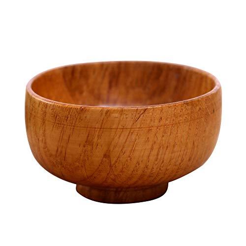 Shyymaoyi - Cuenco de madera redondo, con aislamiento térmico, para sopa, ensalada,...