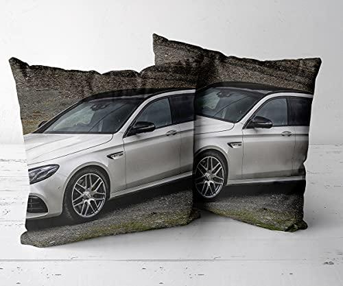Funda de Almohada Decorativa para sofá sofá Sala de EstarJuego de 2 piezas-16 x16-Funda de cojín, Almohada Decorativa para sofá, Coche, Cama y decoración de sillas.-Mercedes AMG E 63 S Estate 4