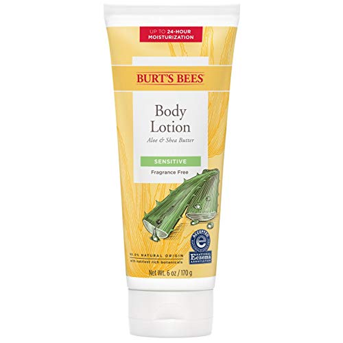Burts Bees Aloe and Shea Butter Body Lotion for Unisex 6 oz Body Lotion