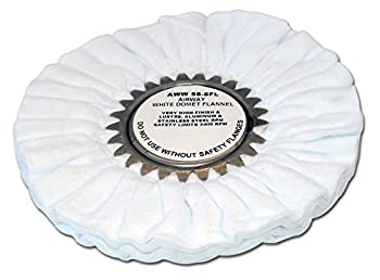 Zephyr AWW 58-8 FL White Domet Flannel Airway Buffing Wheel