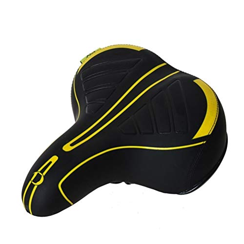 YTBUBOR Spring Autumn High Elastic Bicycle Saddle Shock Absorption Cushion Comfortable Bicycle Seat for Man Woman (Color : Black)
