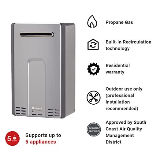 Rinnai RL94eP Propane Gas Tankless Hot Water Heater, 9.8 GPM
