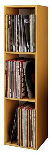 VCM Regal Schallplatten Standregal Bücherregal Universal Archiv LP Möbel Archivierung Holz Buche 115x34x29 cm