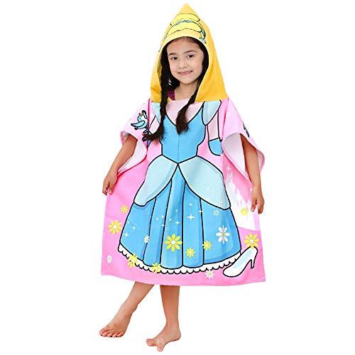 APERIL handdoek kinderen poncho met capuchon badcape strand badhanddoek douche zwembad voor jongens meisjes kinderen peuters 2-8 jaar badjassen