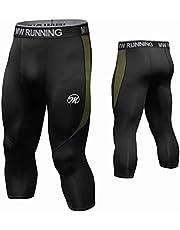 MEETWEE Leggins Uomo, Pantaloni Running Calzamaglia con 2 Tasche Laterali Compressione Tights Sportivo Calzamaglie for Corsa Jogging Fitness