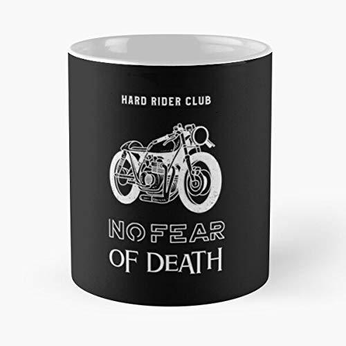 Desconocido Road Gang Death Club Motorbikes Cool Biker Motorcycle Speed Taza de café con Leche 11 oz