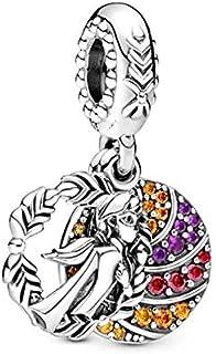 ZDJDMZ Cuentas Colgantes De Moda 2 Unids/Lote Vivid Frozen Princess Charm Colgante Beads Se Adapta A Pulseras Originales Collares para Mujeres Fabricación De Joyas