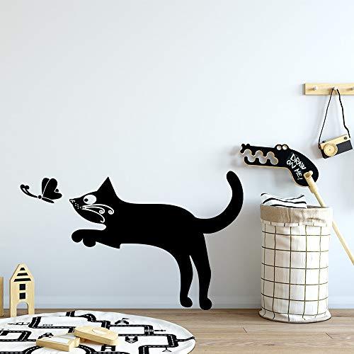 Hetingyue muursticker, kat, afneembaar, afneembare achtergrond