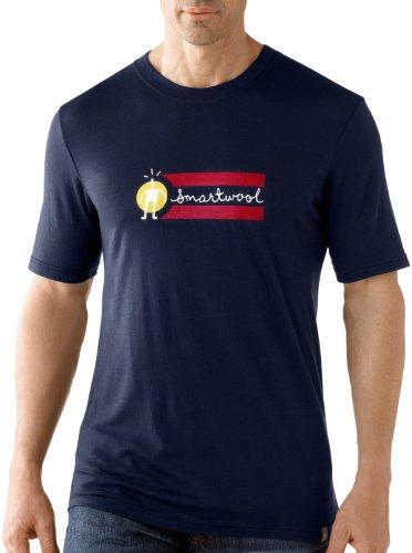 Smartwool Men's Manches Courtes T-Shirt ajusté Medium Bleu - Bleu Marine foncé
