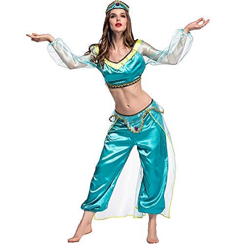 MISTYU Halloween-Kostüme, Filmspiele, Anime-Cosplay-Kostüme, magische Lichter, arabische Rollenspiel-Kostüme, schnell trocknendes Polyester-XXL