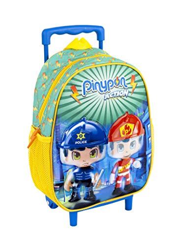 Pinypon Action - Mochila Infantil con Carro y Ruedas para niños a Partir de 3 años (Famosa 700015987)