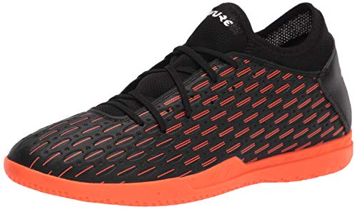 PUMA Herren Future 6.4 Indoor Trainer Fußballschuh, Schwarz (Puma Black-puma White-Shocking Orange), 45 EU