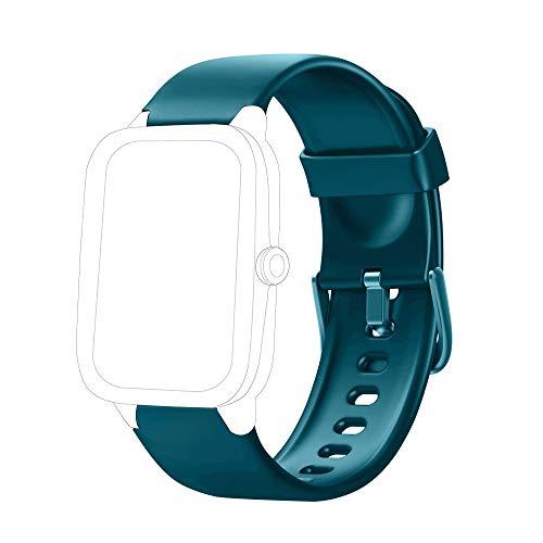 Yishark Pulseras de Repuesto para Fitness Tracker Correa ID205 ID205L ID205S ID205U Correa Repuesto de Reloj Deportivo Inteligente Pulseras Actividad Contador Pasos Calorías Podometro (Verde)