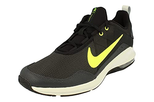 Nike Air MAX Alpha Trainer 2 Hombre Running Trainers AT1237 Sneakers Zapatos (UK 9 US 10 EU 44, Black Volt Dark Smoke Grey 011)