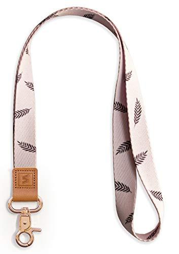 SENLLY Llavero Correa para Cuello Cordón Cuerda Neck Lanyard Strap, para el key, Keychain Teléfono Móvil, USB, Llaves, Nombre Tag, Tarjetas de Identificación (Palm Leaf)