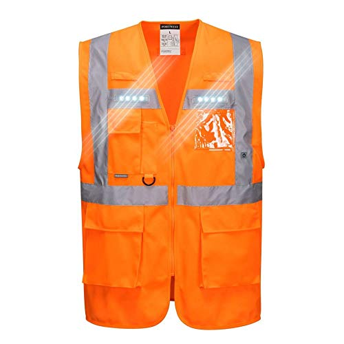 Portwest L476ORRXXXL Orion LED Executive Vest, 3X-Large, Oranje
