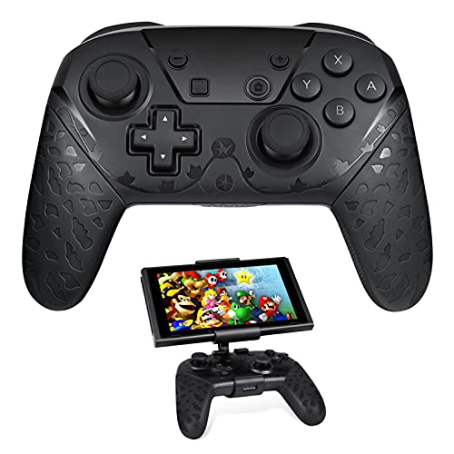 Wireless Switch Pro Controller with Clip Mount for Nintendo Switch/Switch Lite, Matchoice Remote Gamepad Joystick, Support Motion Control, 6-Axis Gyro & Dual Vibration, Black