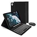 Bluetooth Backlit Keyboard Case with Wireless Mouse for iPad 10.2 2019 / iPad