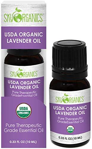 Organic Lavender Oil by Sky Organics I 10 ml I Lavender Essential Oil
