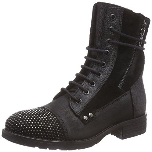 Clarks Damen Moscow Dime Biker Boots, Schwarz (Black Leather), 37