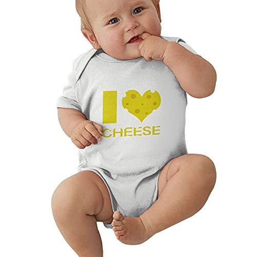 Hikwi Funny Child Short Sleeve I Love Cheese Tee Boys Girl Bodusuit Outdoor Kids Infant Creeper