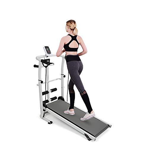YIFAA Tapis de Course Pliable pour Marche, Jogging et Fitness, 145x54x110cm (Gris)
