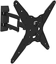 Ematic EMW4001 Full Motion Articulating Tilt Universal Wall Mount for 17-55 TVs with 6' HDMI Cable, Black by Ematic
