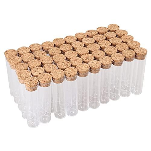 WICKER WEAVING 50pcs / Pack 25x95mm té Plano de té plástico plástico plástico Viales de Tubo de Cultivo con Tapones de Corcho
