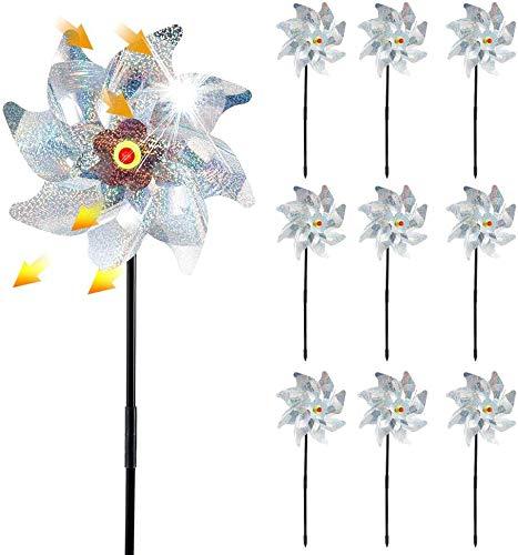 Azang Vogelabwehr Windrad für Vogelabwehr, 8 Stück Materialien mit hoher Reflexion zum Vertreiben von Vögeln, Materialien mit hoher Reflexion, um Vögel zu erschrecken (5 Stück)