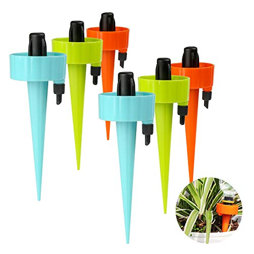 Genrics (6Pcs) Upgraded Automatic Plant Watering Devices,Automatic Drip Irrigation Kits, Self...