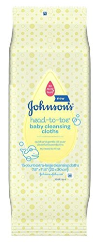 Price comparison product image Johnson & Johnson 117008 Head-To-Toe Cleansing Clothe