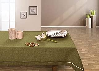 De oliva de colour verde oscuro y verde mantel de mesa de comedor muy práctico y de fácil cuidado Leinoptik lino con ribete de prendas de lino 20 x 20 olivengrün