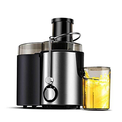 WZB Big Mouth Juice Extractor Elektrische Entsafter, 400 Watt, leiser Motor & Kaltpresse Entsafter mit Pinsel, Saftrezepte für Gemüse und Obst, Silber