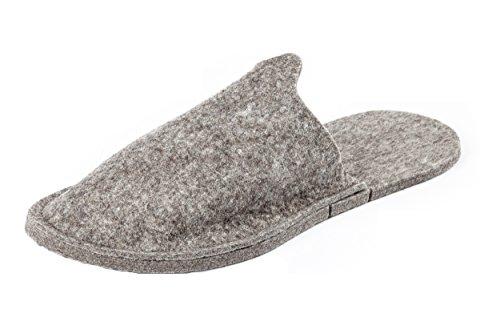 Orthopant Gästepantoffel - Hausschuhe Pantoffel aus naturreinem Filz für kuschelige Wärme und Wohlbefinden - GA-100-XL