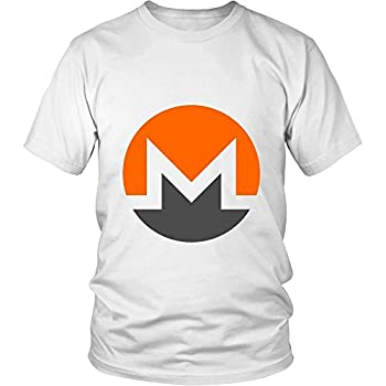 Monero T-Shirt - Official Monero Logo Support XMR Your Favorite Cryptocurrency White